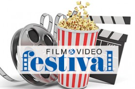 Film Festival Logo with Popcorn